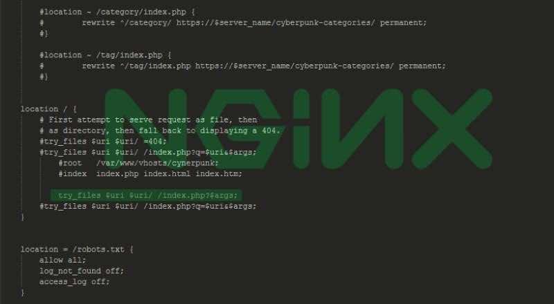 ТОП Файл: Правила Rewrite Nginx+php-fpm для DLE