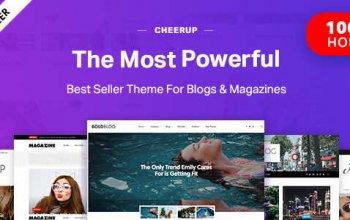 CheerUp v6.1.2 – Food, Blog & Magazine WordPress Изображение: 1