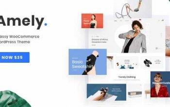 Amely v2.3.1 – Fashion Shop WordPress Theme for WooCommerce Изображение: 1