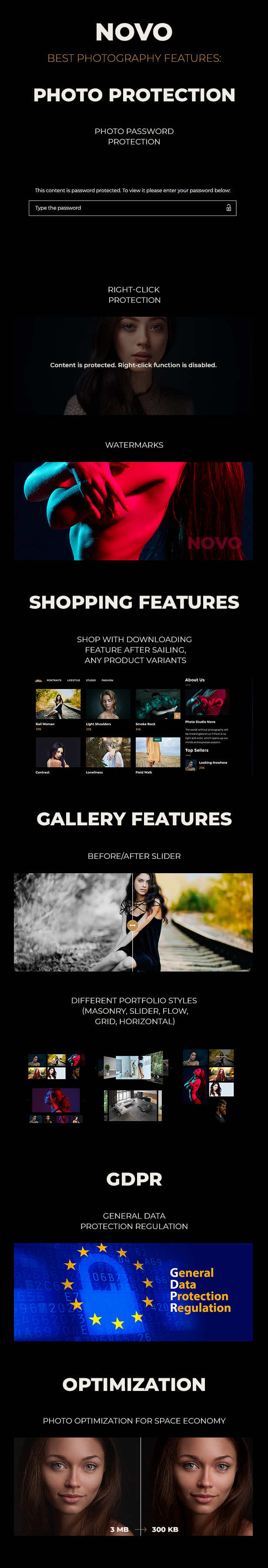 Novo v3.1.6 - Photography WordPress Theme Nulled Изображение: 4