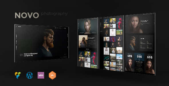 Novo v3.1.6 - Photography WordPress Theme Nulled Изображение: 1