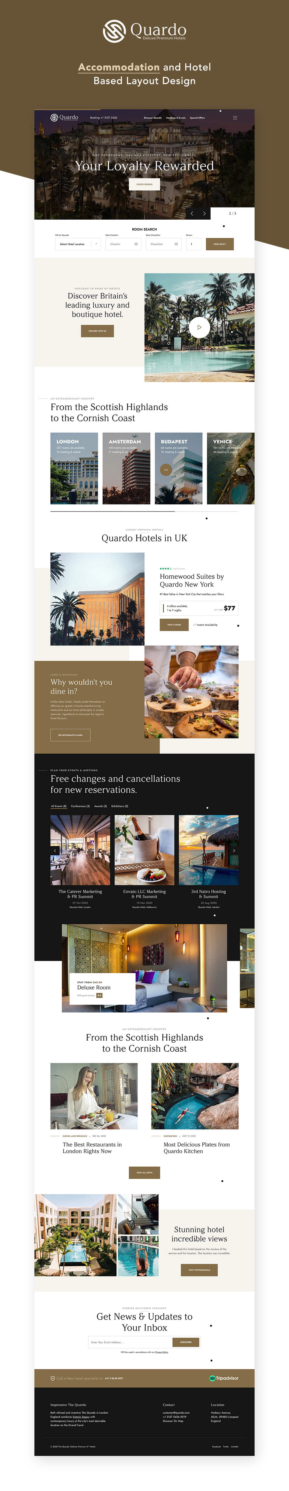 Quardo V1.0.0 | Deluxe Hotels WordPress Theme Изображение: 2