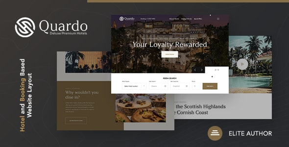 Quardo V1.0.0 | Deluxe Hotels WordPress Theme Изображение: 1