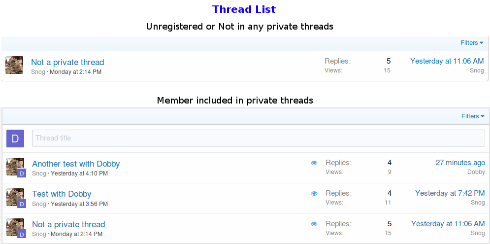 Новинка: Private Threads 2.0.5