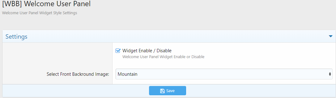 WBB - Welcome User Panel 1.0.0a Изображение: 2