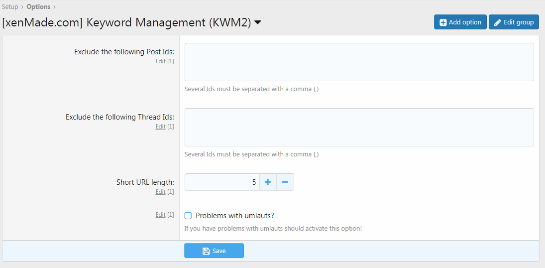 Keyword Management (KWM2) 1.5.1 Изображение: 10